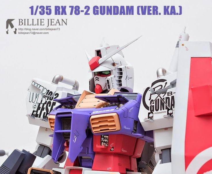 1/35 RX-78-2 Gundam [Ver. Ka.] - Customized Build     Modeled by billiejean73