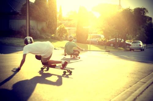 sunset skating