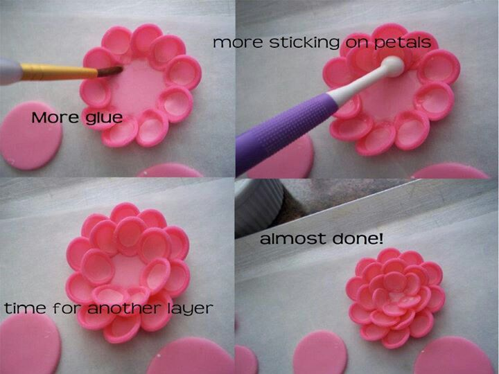 Flower Fondant Cake Tutorial