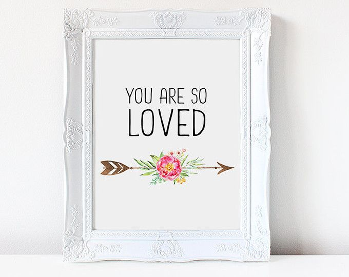 Nursery Decor, You Are So Loved, Nursery Wall Art, Nursery, Love Print, Arrows Print, You Are So Loved Art, Printable Art, Digital Print