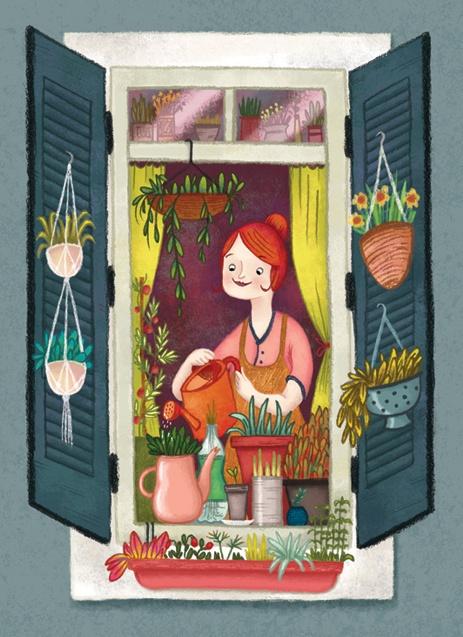 Urban gardening - Laura Wood Illustration