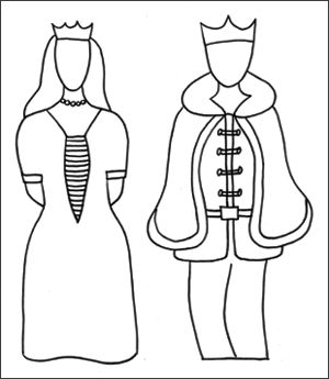 Prince and princess stick puppets - scroll down to find them, there's a free PDF printable