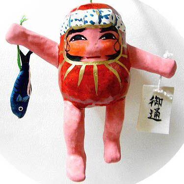 JAPANESE STYLE FOLK TOY : SAKEKAI DARUMA