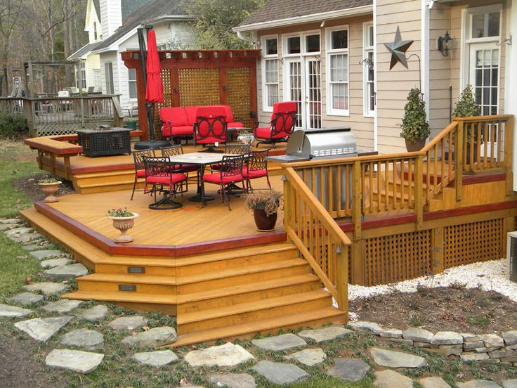 Pictures Of Sundecks Stairs And Benches: 757 Best Images About Pictures Of Decks On Pinterest