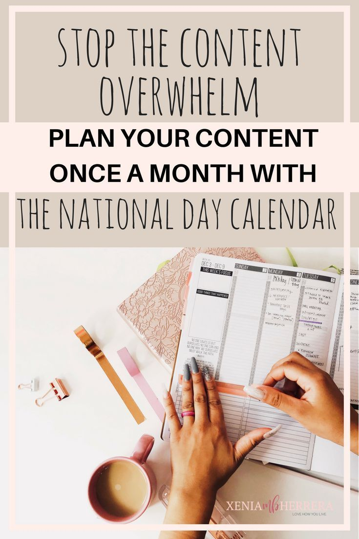 The Celebrate Every Day | National Day Calendar helps you to take control of your social media efforts and content creation. Stop The Overwhelm!
