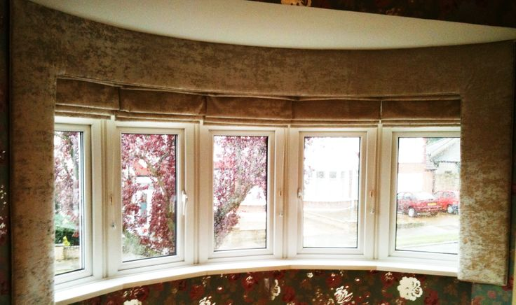 how to make a pelmet for a curved bay window
