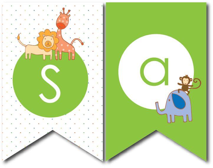Banderines fiesta animales de la selva fiesta selva for Couchtisch 1 00 x 1 00