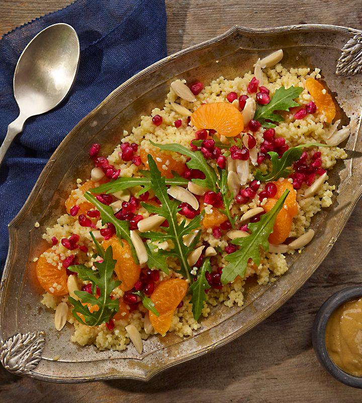 Sałatka z kaszy jaglanej z mandarynką i granatem #lidl #przepis #salatka #kasza #gryczana #mandarynka #ryneczelidla