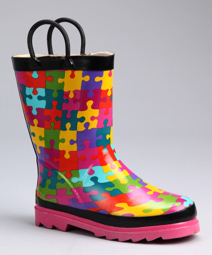 This Western Chief boot is puzzlingly cute!Rain Boots, Pink Puzzles, Westerns Chiefs, Piece Rain, Chiefs Kids, Puzzle Pieces, Daily Deals, Puzzles Piece, Chiefs Boots