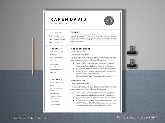 177 best Clean Resume Templates images on Pinterest Resume - clean resume templates