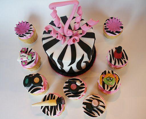 Spa Party Cupcake Cake | 7th Birthday Spa Cupcakes!