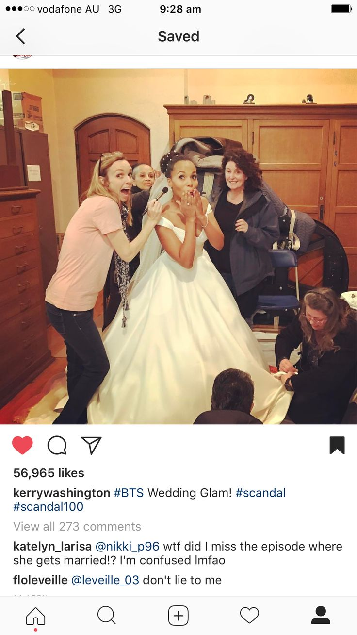Olivia Pope+ Lynn Paolo on her wedding day on the drama Scandal ABC