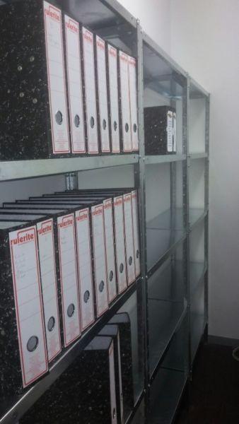 Steel shelving - New Galavanised 5 tiers units2000 x 900 x 300 R525.002000 x 900 x 330 R615.002000 x 900 x 380 R695.002000 x 900 x 450 R850....222811357