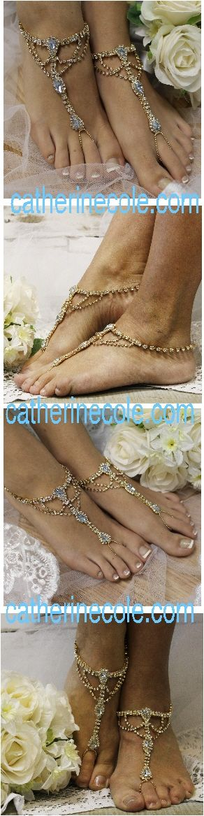 "something blue wedding ideas something blue barefoot sandals  wedding, foot jewelry, beach wedding, bridal ""PIN this pretty for later!'"