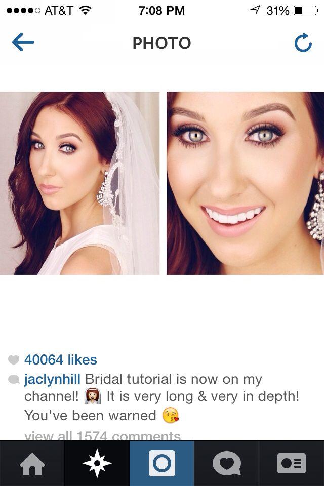 http://instagram.com/jaclynhill    Best bridal tutorial! I love jaclyn hill.