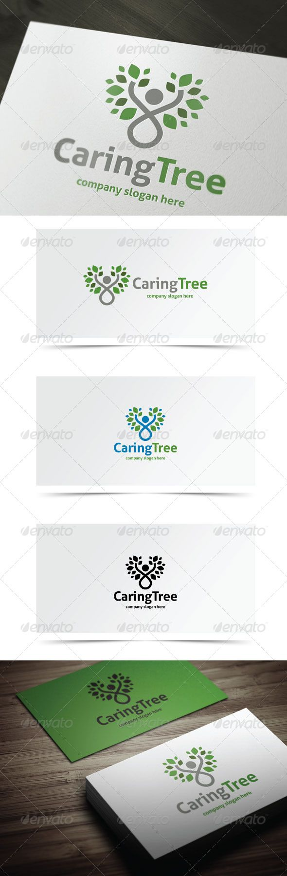 Caring Tree - Nature Logo Templates