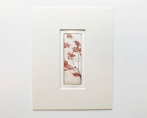 ursprüngliche Farbe Radierung und Aquatinta Kirschblüte