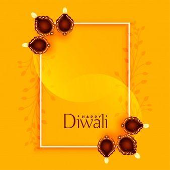 Happy diwali greeting with diya and text space – Aayushi Yadav