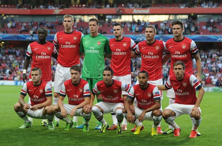 Arsenal football team........my team.