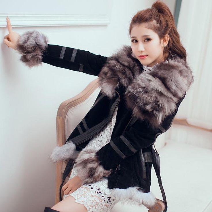 Лиса натуральный мех зимнее пальто женский пиджак женская зимняя куртка женская повседневная одежда vestidos плащ для женщин шубы