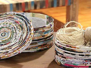 Manualidades y Artesanías | Caja con hojas de revistas | Utilisima.com
