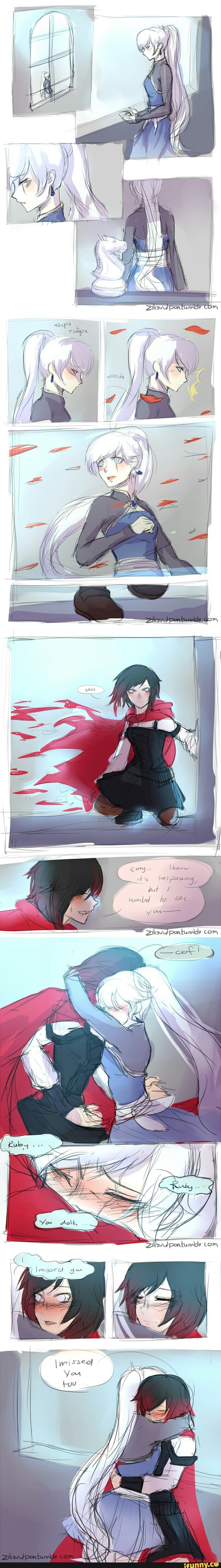 I don't ship them, but I would still love to see this when they reunite. However, I was hoping Weiss would escape.