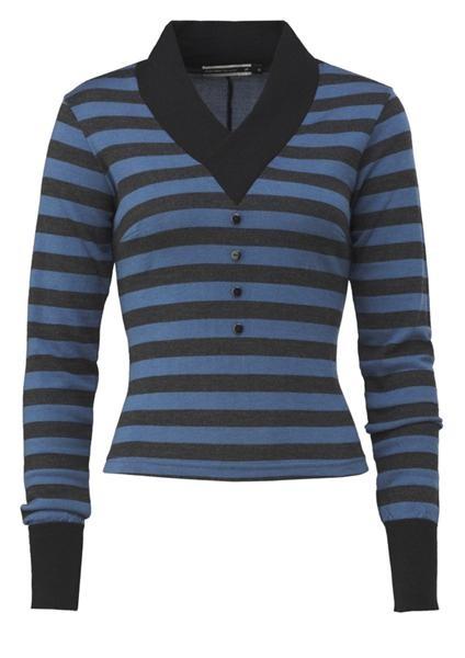 """""""Sebra sweater"""" fra Mette Møller."""