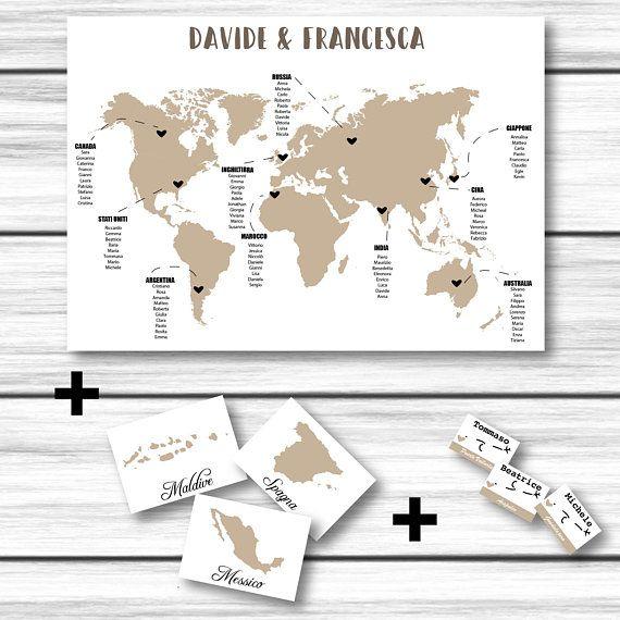 Tableau De Mariage Segnatavoli Segnaposti Matrimonio Mappa Download Digitale Da Stampare Matrimonio Tema Viaggio Mappa Ki Cards Wedding Playing Cards