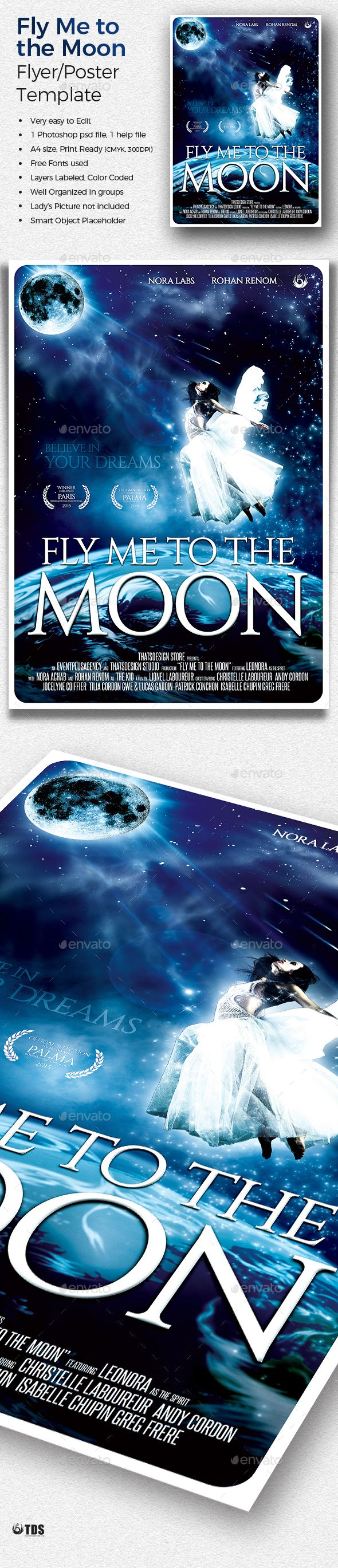 Fly Me to the Moon Movie Poster Template