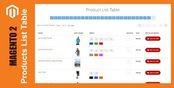 Products List Table For Magento 2 Stylelib Code In 2021