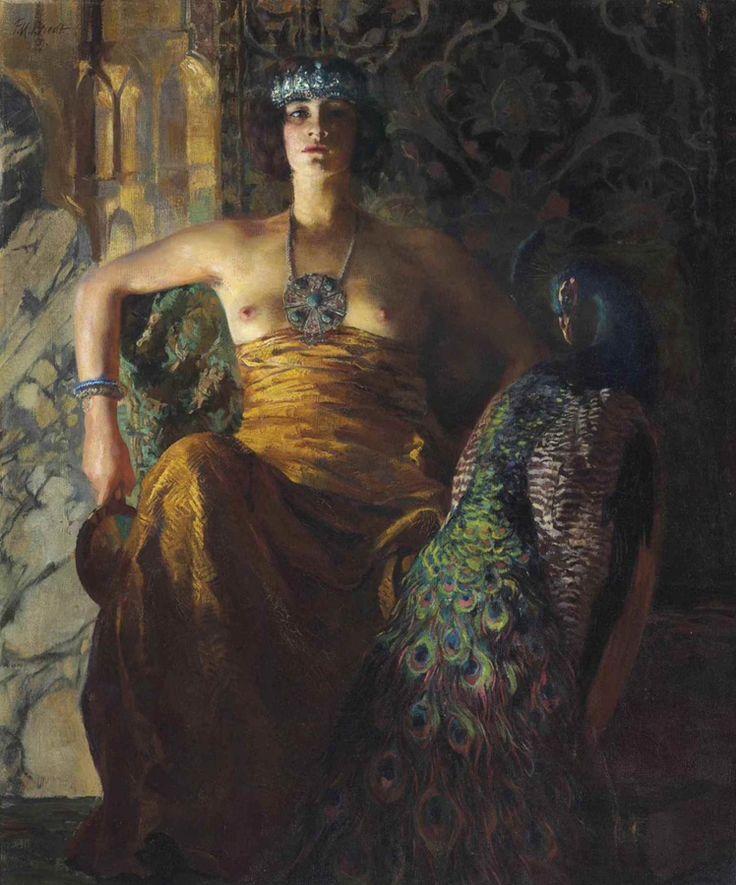 Ferdinand Max Bredt (1868-1921), Selbstbewusst - 1909. Живопись маслом