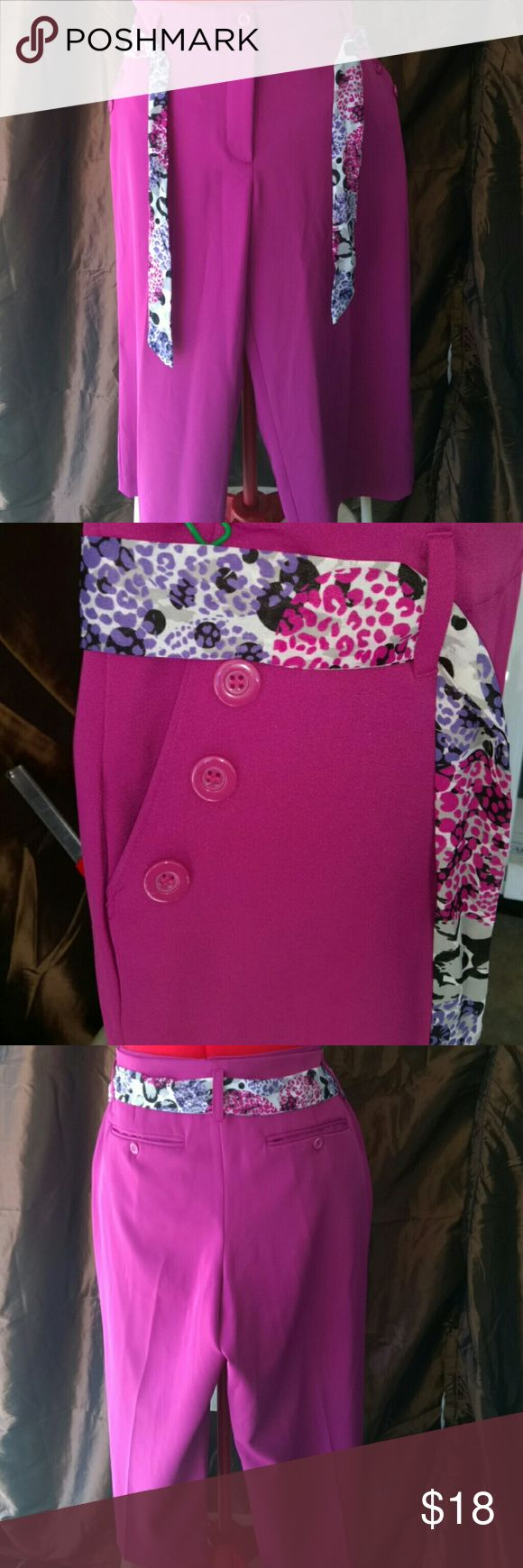 Fuchsia wide leg Capri trousers Brand new fuchsia wide leg Capri trousers Pants Capris