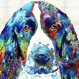 Красочные Английский спрингер-спаниель Собака Шэрон Cummings
