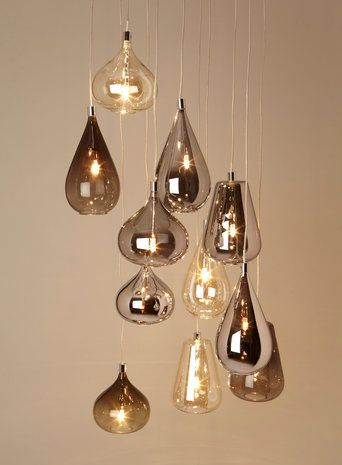 Smoke Nadine Cluster - Cluster - Ceiling Lights - Home, Lighting & Furniture- BHS