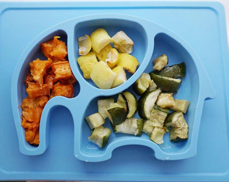 SWEET POTATO, YELLOW SQUASH, ZUCCHINI – Roasted cut into cubes.