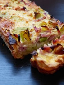 Knapperige korst, heerlijke vulling, ja deze hartige taart met prei ein ham is een topper!