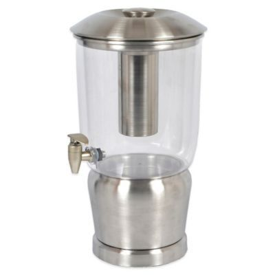 Double-Walled Stainless Steel 3-Gallon Beverage Dispenser - BedBathandBeyond.com
