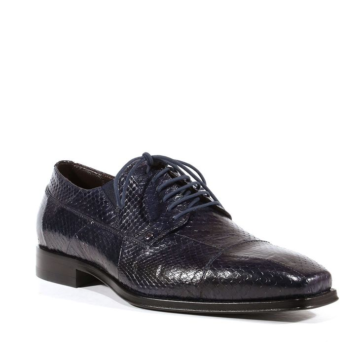 Cesare Paciotti Mens Shoes Ayer Lux Print Navy Leather Oxfords CPM3071