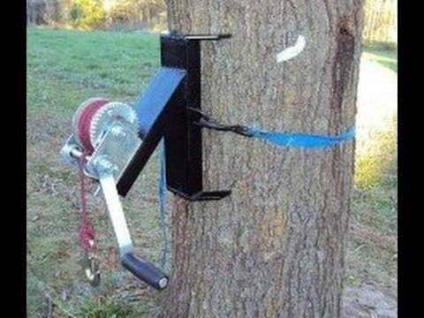 Homemade Tree Winch Welding Deer Winch Youtube En