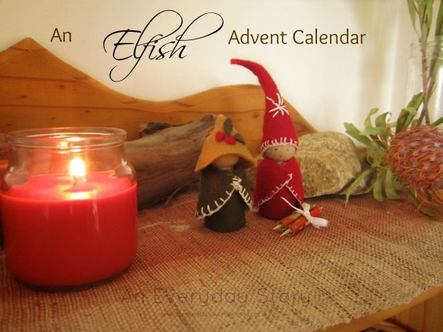 An Elfish Advent Calendar: These little elves are so easy to make. A full tutorial from An Everyday Story