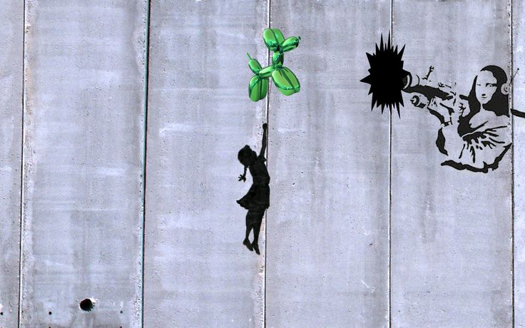 Riccardo Schiavon featuring Banksy + Jeff Koons, 2014, GIF  http://riccardoschiavon.tumblr.com  www.riccardoschiavon.com  https://www.facebook.com/RickyRockyRiccardoSchiavon?ref=hl