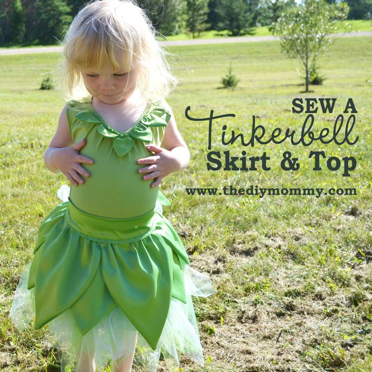 Sew a Tinkerbell Skirt & Top | The DIY Mommy