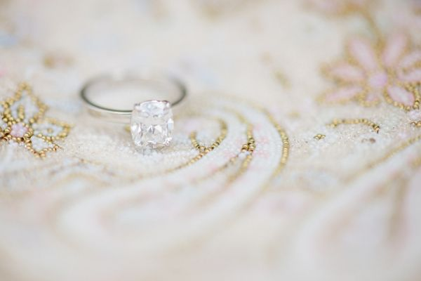 This solitaire with an ultra thin band is a delight.