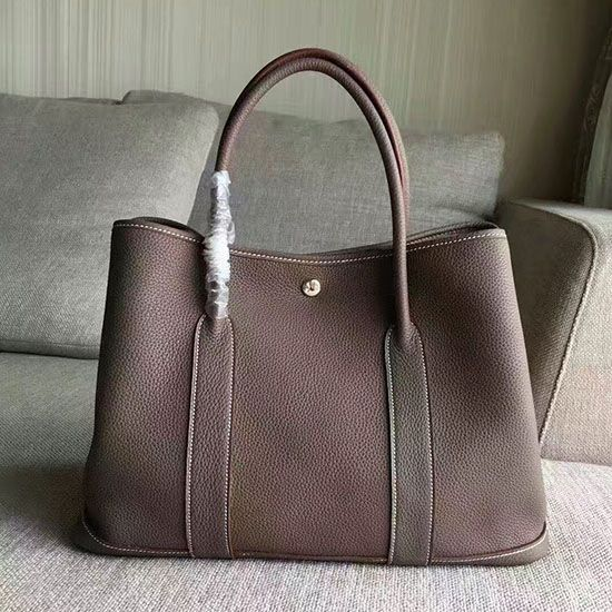 73b6be08b108 Garden Party 36 30 Tote Bag in Imported Togo Leather Grey