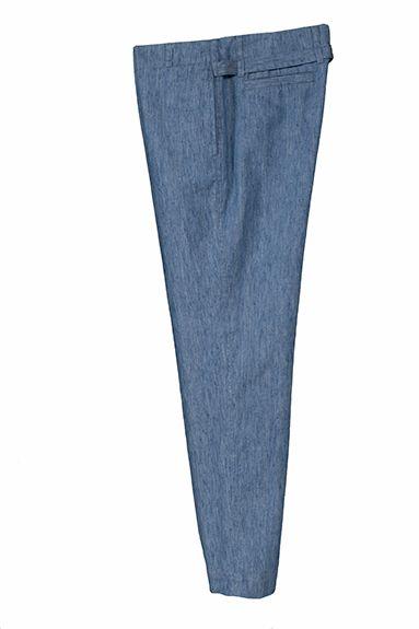 MILA relaxed leg pant cotton/linen herringbone (below the line)