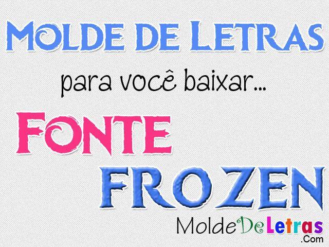Molde de Letras Frozen