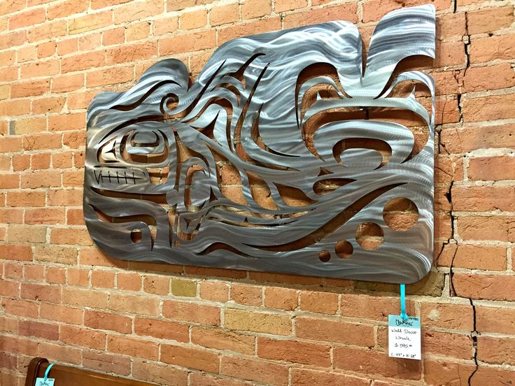 Gorgeous piece from Anvil Island (Vancouver).  Whale ironwork inspired by Native Canadian artwork and culture.