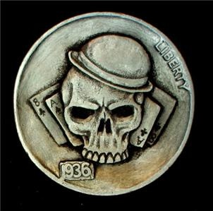 Hobo nickel: Skulls, Hobonickel, Skull Coins, Hobo Nickles, Art, Hobo Coins, Skull Nickel