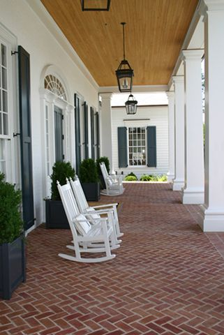 A big, beautiful southern porch.