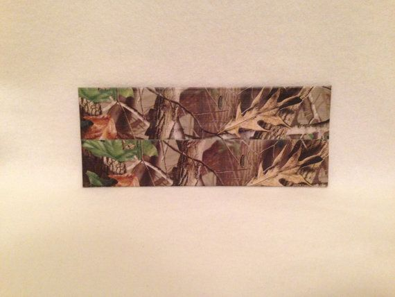 Real tree camouflage custom duct tape wallet
